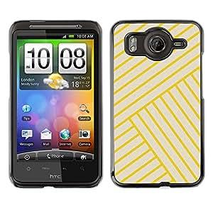 A-type Arte & diseño plástico duro Fundas Cover Cubre Hard Case Cover para HTC G10 (Yellow Golden Tiles Yellow Bling Lines)