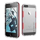 Ghostek Cloak Series for Apple iPhone SE 5S 5 Slim Protective Armor Case Cover Tempered Glass (Red)