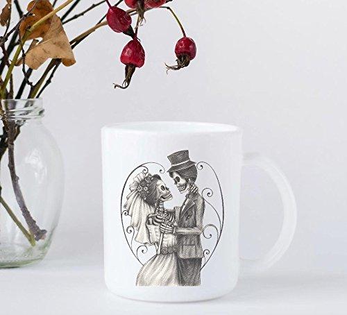 Coffee Mug - Valentine's Day - Skeleton Bride and Groom