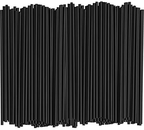 [1000 Bulk Pack] 5 Inch Plastic Sip Stirrers/Straws – Disposable Stir Sticks for Coffee & Cocktail – Black