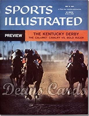 Sports Illustrated - With Label May 6 1957 - Calumet & Bold Ruler Kentucky Derby Issue (Magazine/Publication) (Has Address Label on Front) Dean's Cards 3 - VG