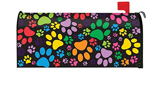 Toland Home Garden Puppy Paws Colorful Dog Paw Collage Magnetic Mailbox Cover by Toland Home Garden