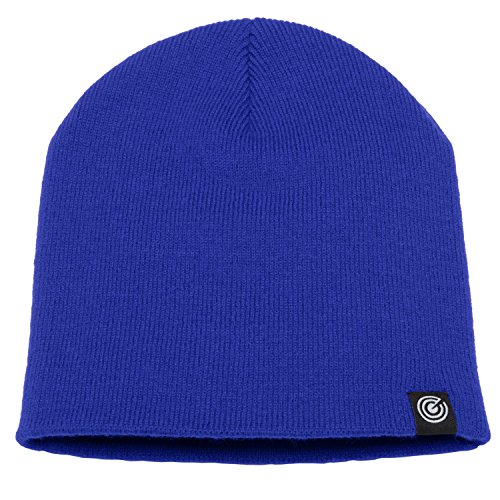e Cap - Soft Knit Beanie Hat - Warm and Durable (Royal Blue) (Royal Blue Winter Beanie)