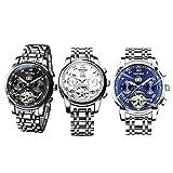 Jili Online 3 Pieces KINYUED Men Luxury Automatic Date Mechanical Business Sports Wristwatch