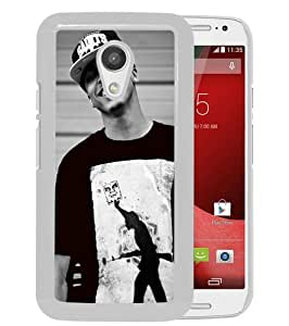 Fashionable And Unique Designed Case For Motorola Moto G 2nd Generation Phone Case With August Alsina 1 White