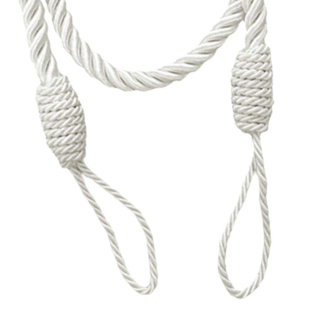 Blanc 2 petsola 2 PCS Corde Rideau Embrasses Gland /Épais Twisted Salon Chambre D/écoration