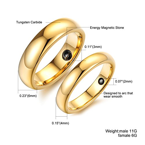 OPK Jewelry High Re mend Pure Gold Tungsten Carbide Magnetic