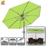 Strong Camel 9ft Patio Umbrella with Tilt and Crank 8 Ribs Outdoor Garden Market Umbrella Sunshade (Lemon Green) Review