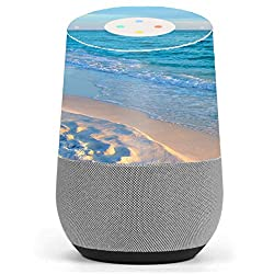 Skin Decal Vinyl Wrap for Google Home stickers skins cover/ Beach white sands blue water