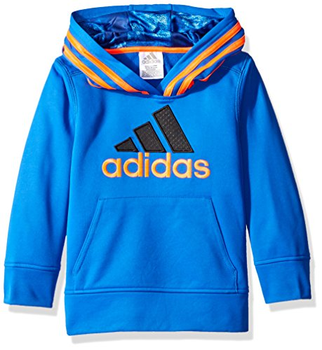 adidas Toddler Boys' Athletic Pullover Hoodie, Blue/Orange, 4