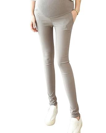 ee1b97e22 Pantalones Embarazada Elasticos Premamá Leggings Para Mujer Gris XXL   Amazon.es  Ropa y accesorios