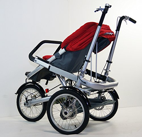 Red Family Stroller Bike for Children 6 Months to 5 Years of Age MCB-01S ALU by USA-MEGASTORE (Image #8)