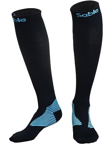 575886e98 Calcetines de compresión Mujer y Hombre Sable Calcetines para Running,  carrera atlética y medias de
