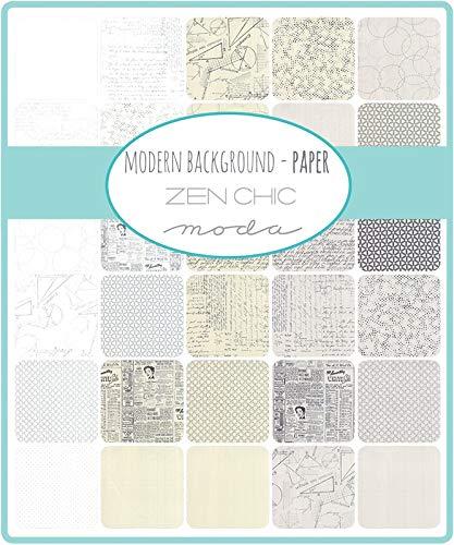 Modern Backgrounds Paper Jelly Roll 40 2.5-inch Strips by Zen Chic for Moda Fabrics 1670JR