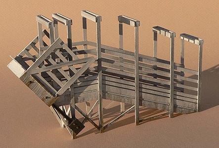 Stock Loading Ramp - GC Laser N Scale CATTLE/STOCK LOADING RAMP 1-7/8