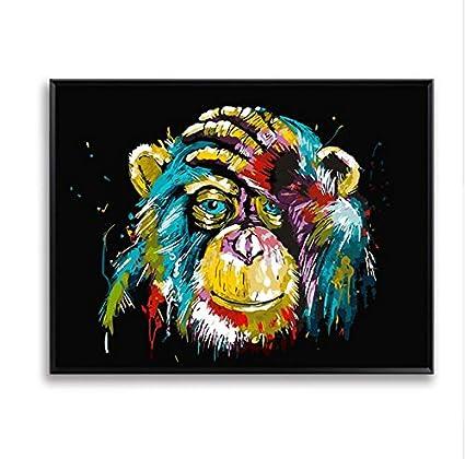 Kanmeipp Digital Painting Diy Monkey By Numbers Wall Art