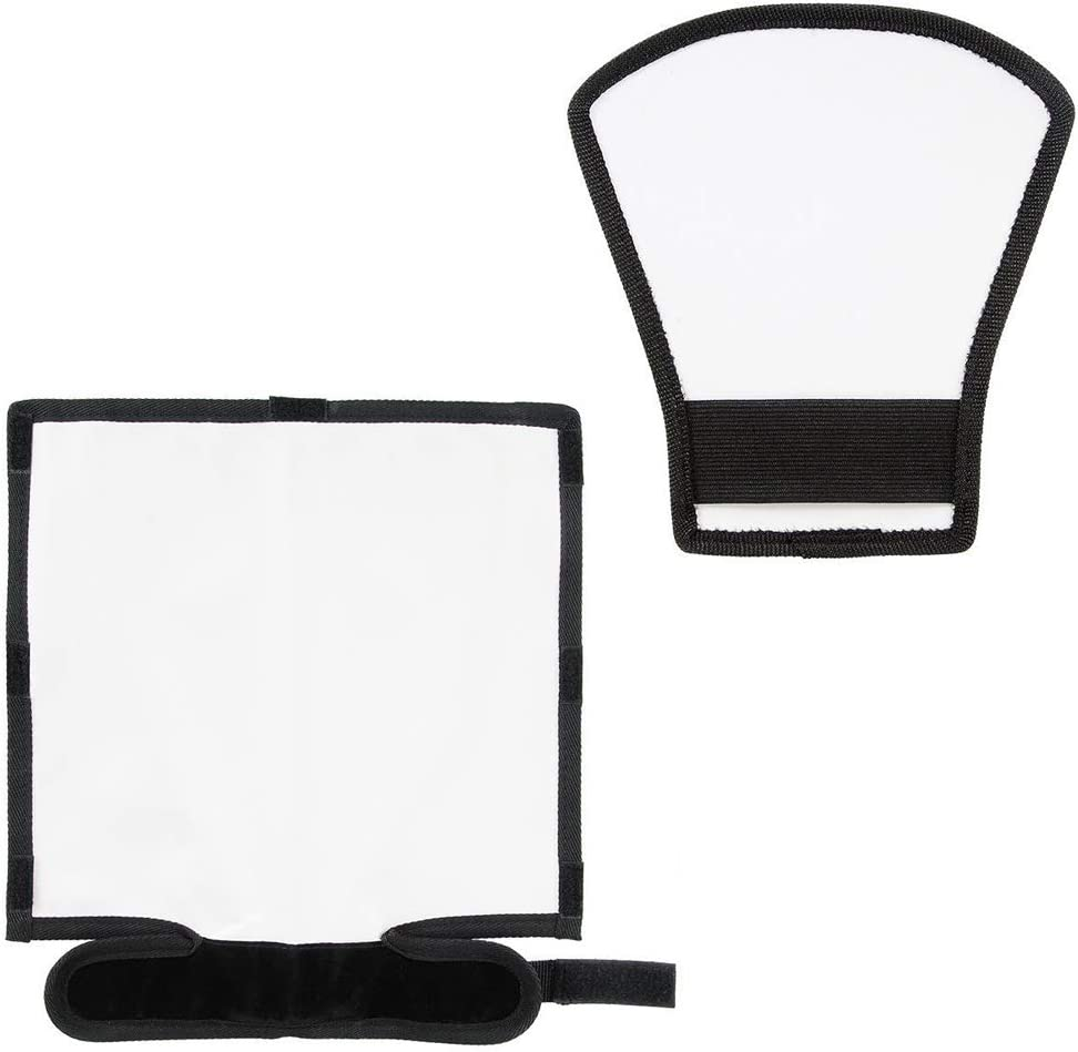 Bend Bounce Flash Diffuser+ Silver//White Reflector for Speedlight Universal Mount for Nikon Canon Sony Flash Diffuser Reflector Kit Reflector