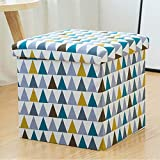 Folding Table and Chairs At Target Storage Stool Storage Stool Can Sit Adult Folding Chair Home Sofa Change Shoe Stool Finishing Box Box Fine Linen Printing Can Sit And Can Be Stored,E,38CM