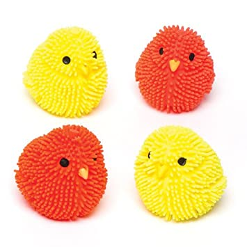 Squeezy flashing chicks toy set for children easterspring party squeezy flashing chicks toy set for children easterspring party bag filler or gift negle Image collections