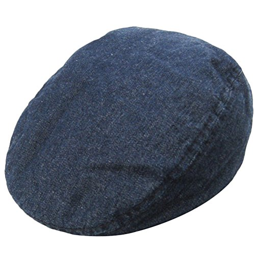 Newsboy Ivy Hat Beret Flat Duckbill Cap Driver Cap Style 1 Blue 6-9M (Beret Driver)