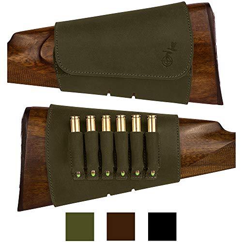 Jual Bronzedog Hunting Buttstock Ammo Cartridge Holder Pouch