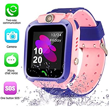 Smart Watch for Kids GPS Tracker - IP67 Waterproof Smartwatches with SOS Voice Chat Camera DND Alarm Clock Digital Wrist Watch Smartwatch Girls Boys ...