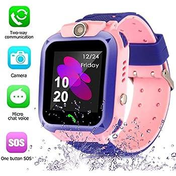 Smart Watch for Kids GPS Tracker - IP67 Waterproof Smartwatches with SOS Voice Chat Camera DND Alarm Clock Digital Wrist Watch Smartwatch Girls Boys ...