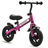 "10"" Classic Balance Bike Walking Bicycle No-Pedal Cycling For Kids Ages 2 to 5 years old (Pink)"