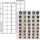 Lindner MU40 Hojas monedas UNIVERSAL para 5 juegeos de Euro con 8 monedas cada uno