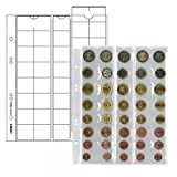 Lindner MU40 Coin pages Universal for 5 Euro current coin sets with 8 coins each
