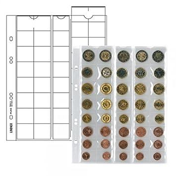Lindner 20 X Mu40 Multi Collect Münzhüllen Münzblätter