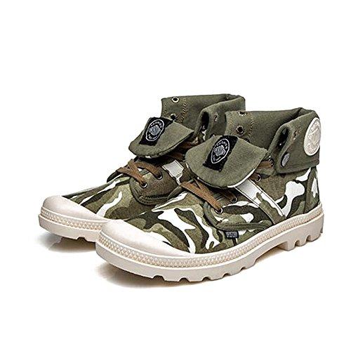 Herren freizeitschuhe kleid bergsteigen herbst outdoor canvas schuhe stiefel rutschen schwarzbraun-A Fußlänge=41EU