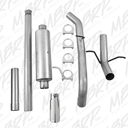MBRP S5080AL 3'' Cat Back, Single Side Exit Exhaust System (Aluminized Steel) by MBRP (Image #1)