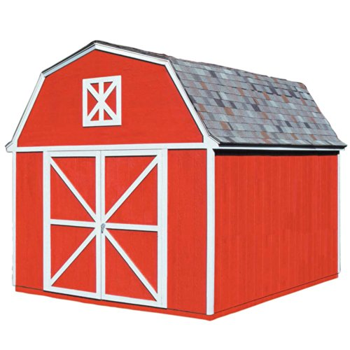 Handy Home Products Berkley Wooden Storage Shed with Floor, 10 by 12-Feet