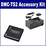 Panasonic Lumix DMC-TS2 Digital Camera Accessory Kit includes: SDDMWBCF10 Battery, SDM-1508 Charger