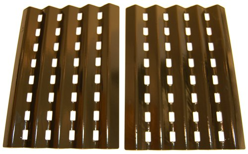 Porcelain Steel Heat Plates For Brinkmann and Charmglow Grills (Set of 2) by Music City Metals