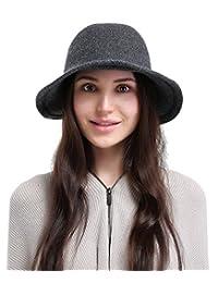 La Vogue Women's Vintage Style Autumn Winter Bucket Hat With Bowknot