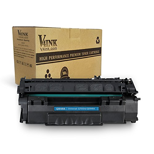(V4INK Compatible Toner Cartridge Replacement for HP Q5949A 49A Q7553A 53A for use with HP Laserjet 1320 1320n P2015dn P2015 P2015n 3390 3392 1160 P2014 M2727nf MFP Printer (Black,1 Pack))