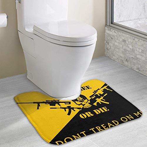 casually Dont Tread On Me Funny Bath Mat Toilet Carpet Doormats Floor Mat for Bathroom Toilet 19.2″x15.7″