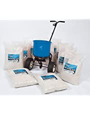 Salero esparcidor Kit–20x 25kg bolsas de sal y esparcidor de sal 1x 18kg)