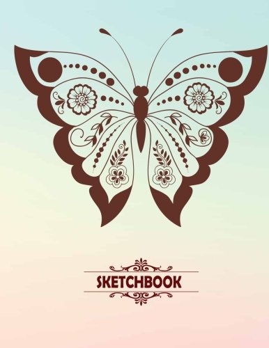 Sketchbook: Blank pages, Extra large (8.5 x 11) inches, 110 pages, White paper, Sketch, Draw and Paint -Butterfly Cover