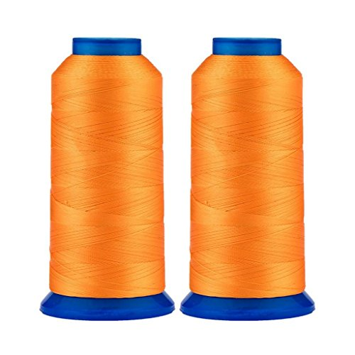 Selric [3000 Yards / 26 Colors Available] Pack of 2 UV Resistant High Strength Polyester Thread #69 T70 Size 210D/3 for Upholstery, Outdoor Market, Drapery, Beading, Purses, Leather ()