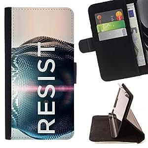 Momo Phone Case / Flip Funda de Cuero Case Cover - Resista Slogan Motivación Desire Cita sesión - HTC Desire 820