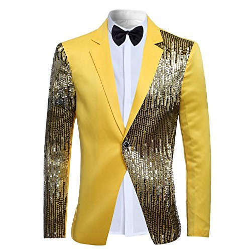 Mens 2-Piece Suit Casual One Button Slim Fit Blazer Stylish Sport Coat & Trousers