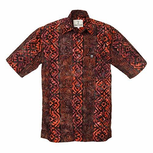 Artisan Outfitters Mens Riptide Batik Cotton Shirt