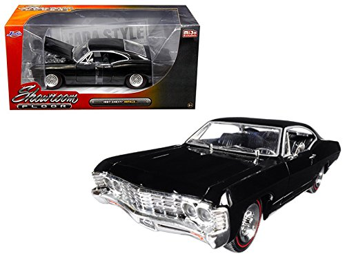 Jada 98910 1967 Chevrolet Impala Black Showroom Floor 1/24 Diecast Model Car