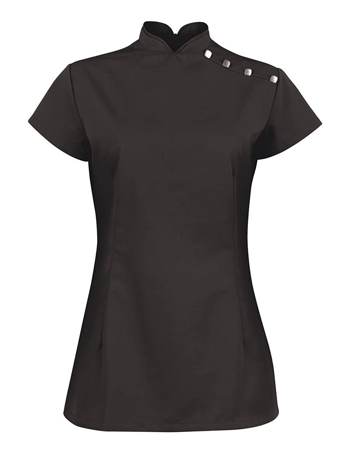 New Alexandra Ladies Concealed Back Zip Side Vents Stand Collar Beauty Tunic