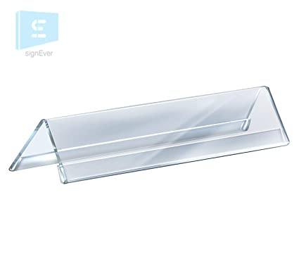 signever acrylic transperent sheet two sided display name plate