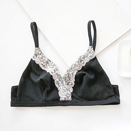 ZHFC-Europa y los Estados Unidos de pecho natural tipo ultrafino no encaje de algodon, anillo de acero, sin esponja sujetador ropa interior, dormir las mujeres 160 / 90 / (m)