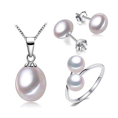 2356496276c6 TreasureBay conjunto de joyería de perlas para mujer